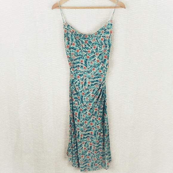 Diane Von Furstenberg Dresses & Skirts - DVF Bright Floral & Leaf Jersey Silk Midi Dress 6